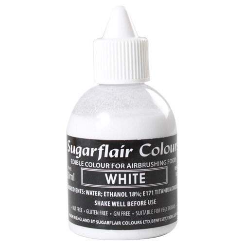 Foto: SUGARFLAIR - Colorante per aerografo bianco 60 ml.
