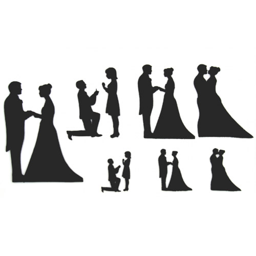 Foto: Patchwork Cutter Wedding Silhouette Set