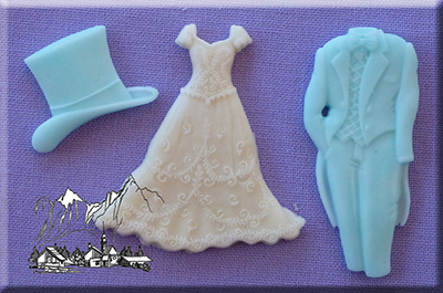 Foto: Alphabet moulds - stampo silicone wedding am0006