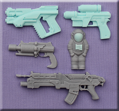 Foto: Alphabet moulds Space Guns am0274