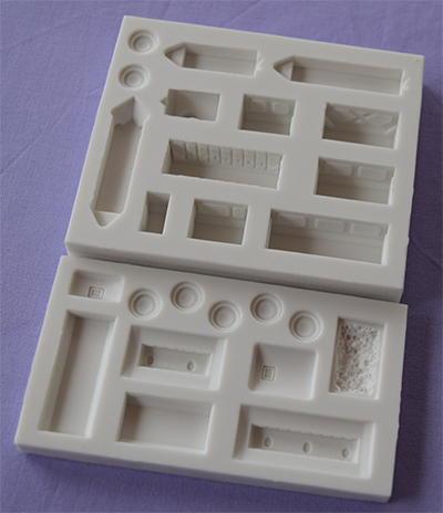 Foto: Alphabet mould - treno con carrozze am0258