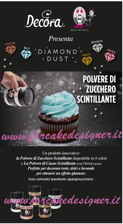 Foto: Decora-Diamond dust polvere scintillante rosa 90 gr.