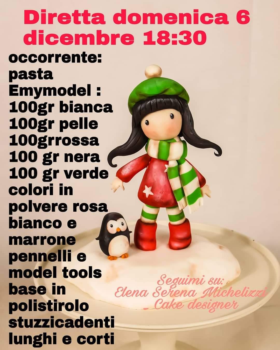 Tutorial Gorjuss realizzato da Elena S. Michelizzi con le paste di zucchero Emy Model e Revolution.
